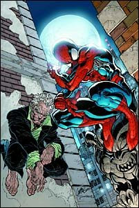 Amazing Spider-Man #33 cover - Spidey and Ezekiel