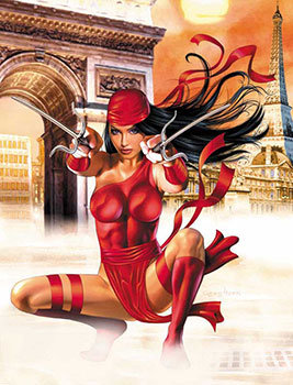 Elektra #1 - Cover by Greg Horn