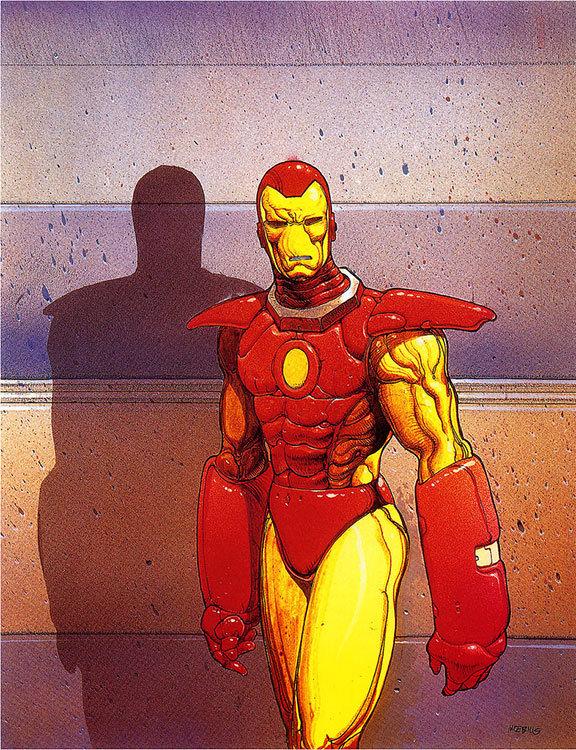 Homem de Ferro, no traço maravilhoso de Moebius