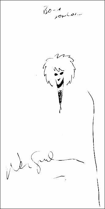 Autógrafo de Neil Gaiman ao Universo HQ
