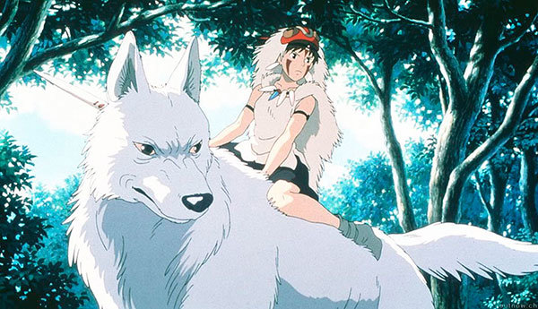 Scene from Princess Mononoke, feature lenght anime of Hayao Miyazaki, that was a huge success in Japan, adapted to english by Neil Gaiman.