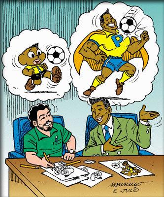 Pelé e Mauricio de Sousa