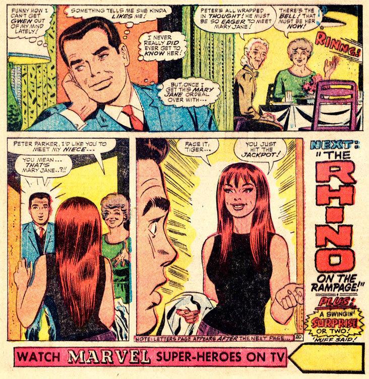 Primeira aparição da Mary Jane