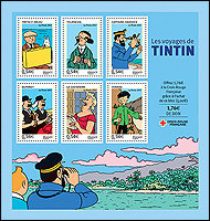 Selos com personagens criados por Hergé