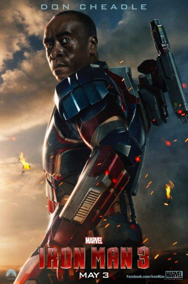Cartaz do patriota de Ferro em Homem de Ferro 3
