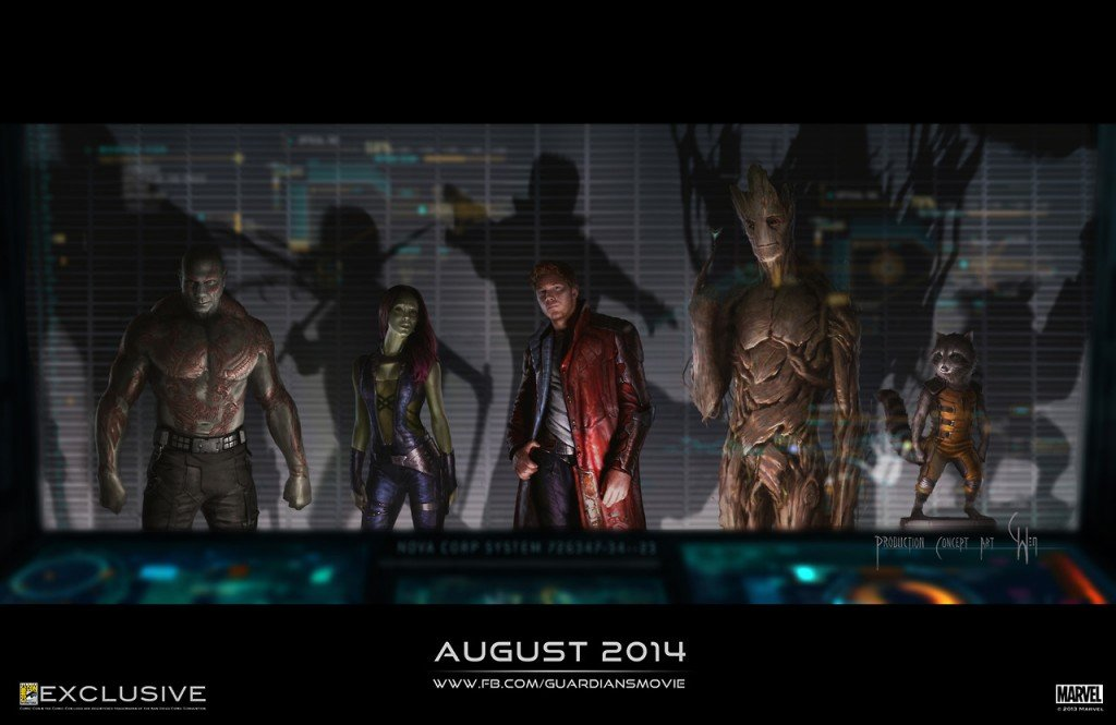 Imagem conceitual de Guardiões da Galáxia
