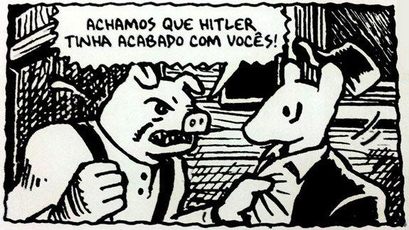 Em Maus, poloneses foram retratados como porcos