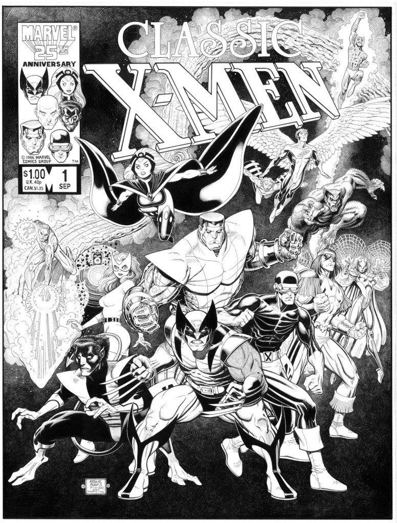 Capa de Classic X-Men # 1, recriada por Arthur Adams, em 2012