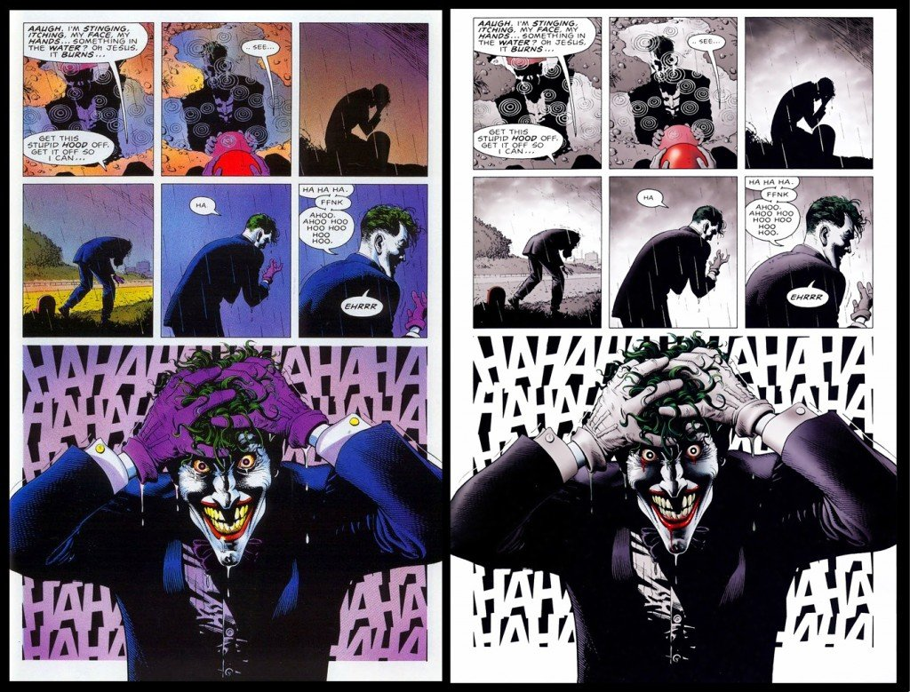 Comparação das duas versões de Batman - A Piada Mortal