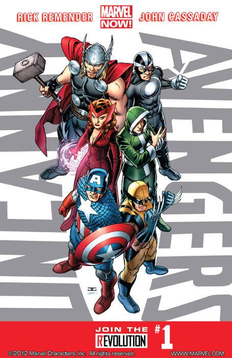Capa de Uncanny Avengers # 1