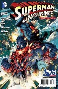 Capa de Superman Unchained # 3 -  versão original, de Jim Lee