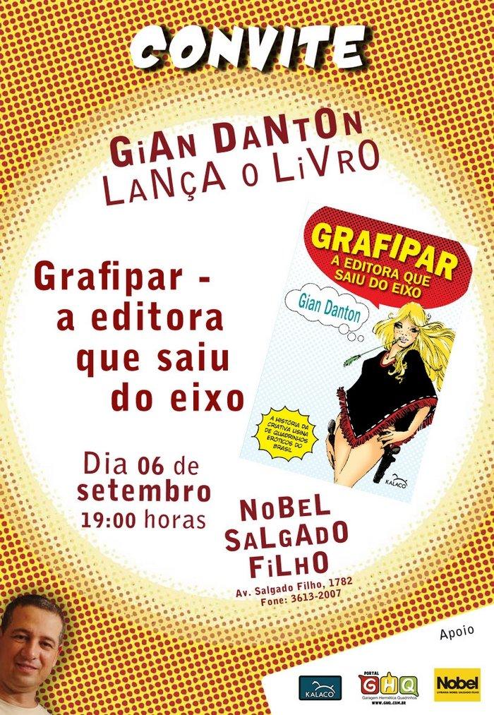 Convite lançamento do livro Grafipar