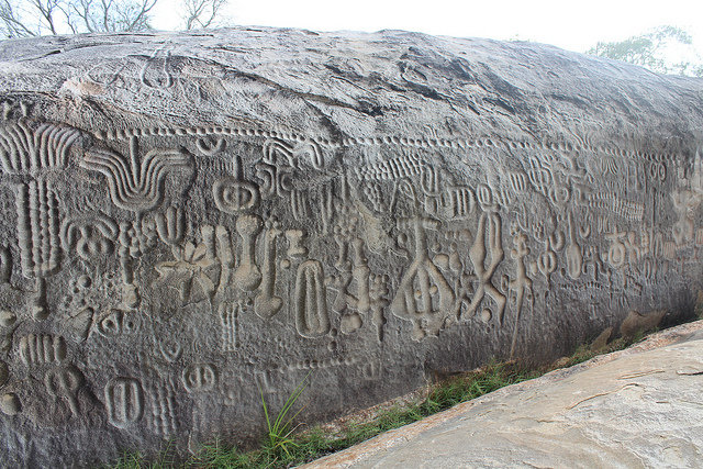 Foto da Pedra de Ingá real