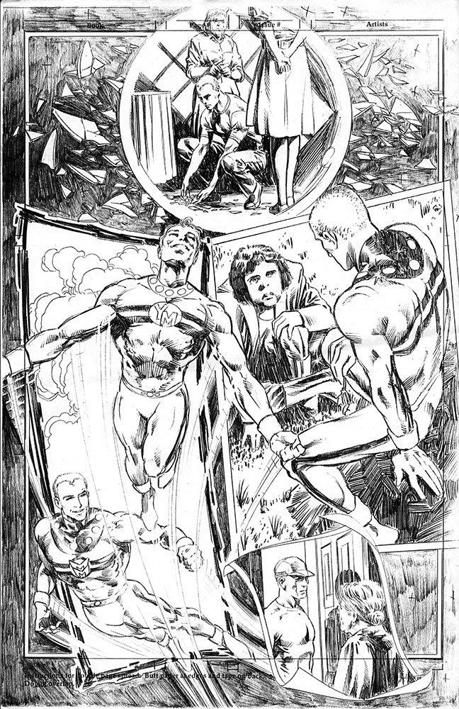 Página de Mike Deodato Jr. para Miracleman Triunphant