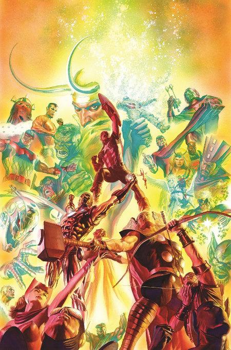 Avengers # 25, capa alternativa de Alex Ross