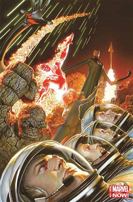 Fantastic Four # 1, capa de Alex Ross