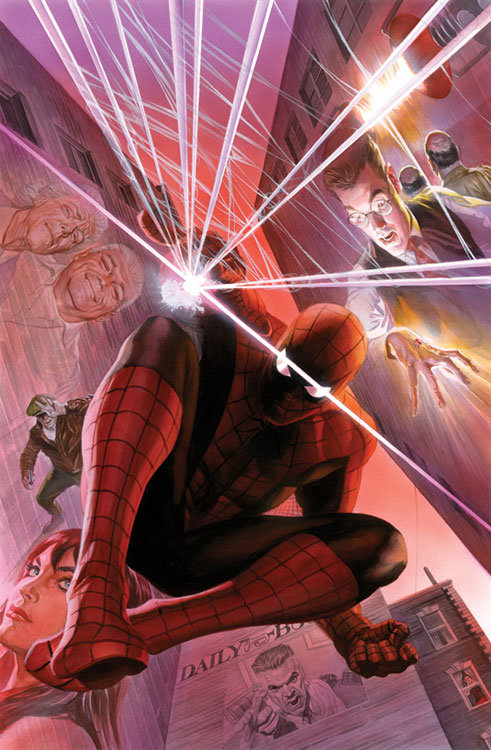 The Amazing Spider-Man # 1 - capa de Alex Ross