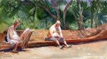 Lendo no Parque Ibirapuera, por Gonzalo Carcamo