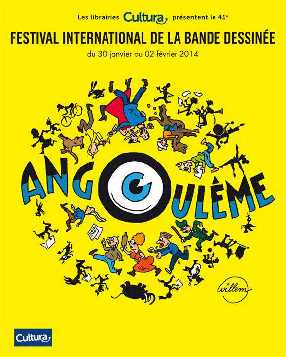 Cartaz de Willem para o 41o. Festival Internacional de Quadrinhos de Angoulême