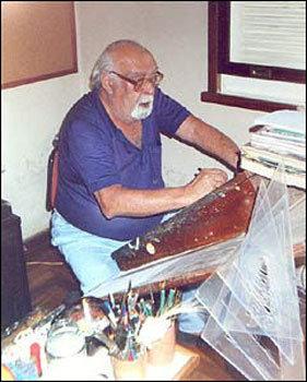 Flavio Colin em seu estúdio