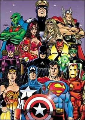 Liga da Justiça e Vingadores juntos
