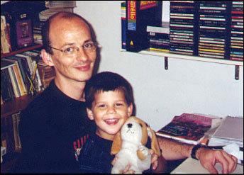 Lourenço Mutarelli e seu filho Francisco