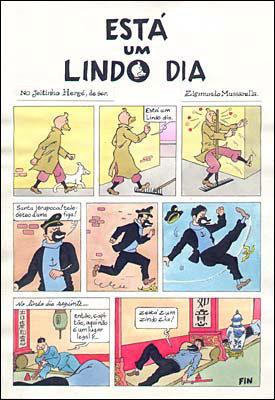 O Pato Camaleão, no estilo Hergé: um exemplo da versatilidade do artista