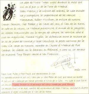 No encarte, aparece a informação (errada) de que Torpedo foi criado por Jordi Bernet.