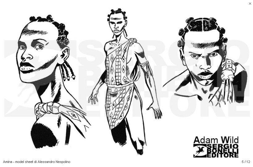 Adam Wild Amina desenhada por Alessandro Nespolino