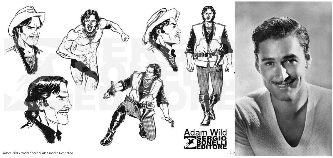 Adam Wild desenhado por Alessandro Nespolino