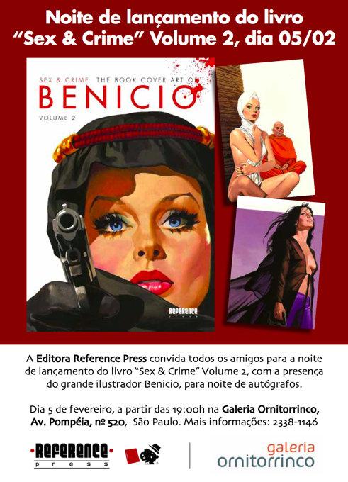 Lançamento de Sex & Crime – The Book Cover art of Benicio – Volume 2