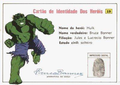 Cartão de Identidade do Hulk