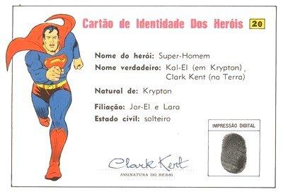 Cartão de Identidade do Superman