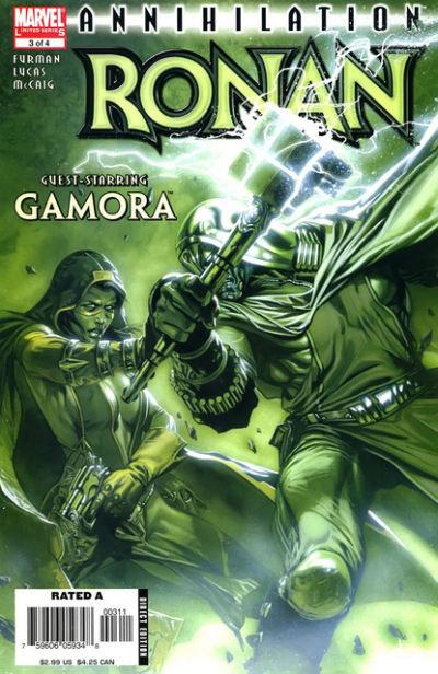 Gamora e Ronan, na capa de Ronan # 3