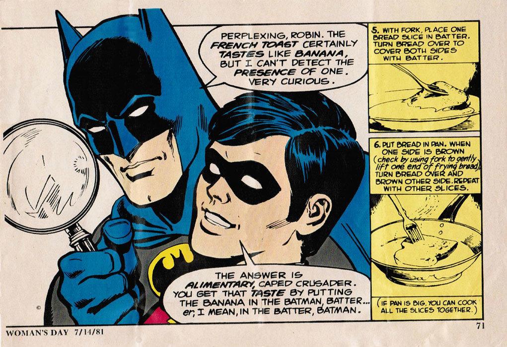 Torrada de banana do Batman