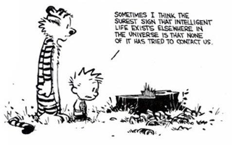 Tira de Calvin and Hobbes - Weirdos from another planet!