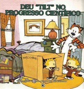"""Calvin & Haroldo - Deu """"Tilt"""" no Progresso Científico"""