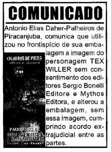 Comunicado no Diário de São Paulo