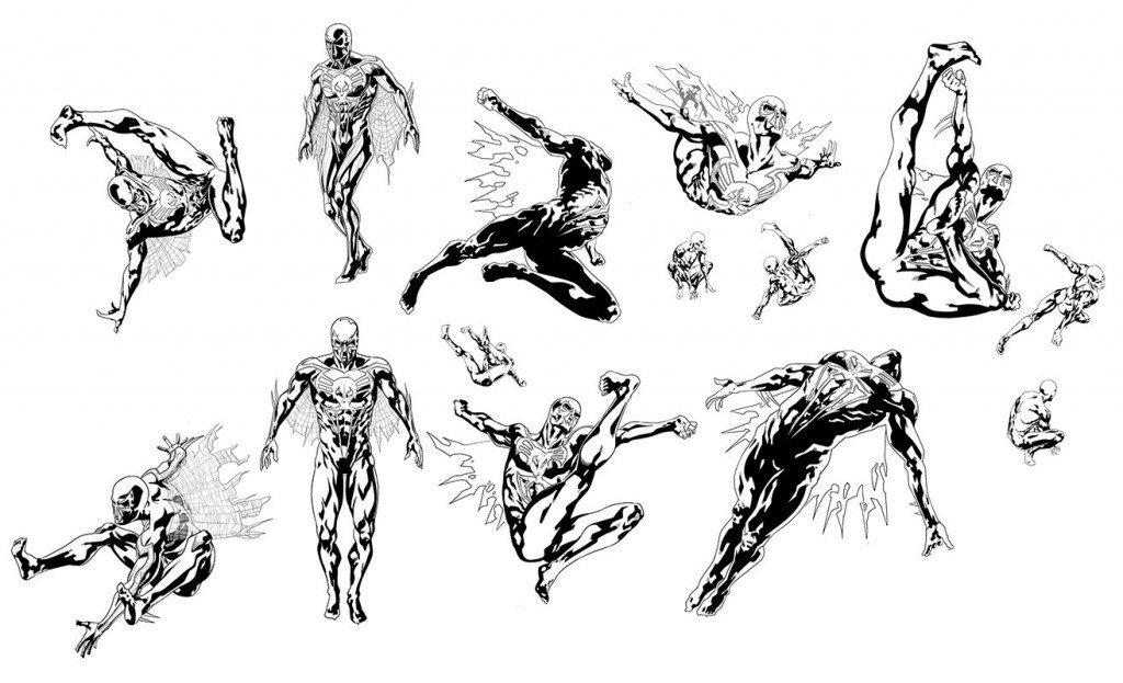 Sketches de Will Sliney para Spider-Man-2099