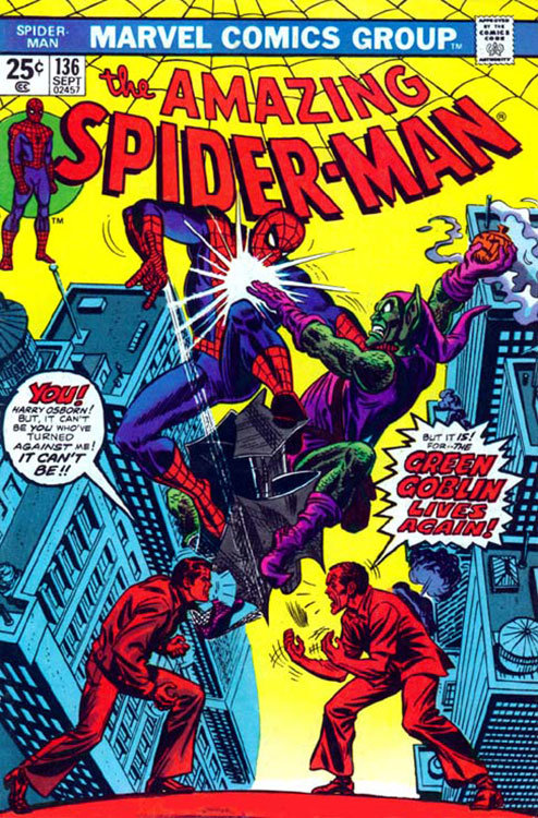 The Amazing Spider-Man # 136, na qual Harry Osborn se transforma no Duende Verde