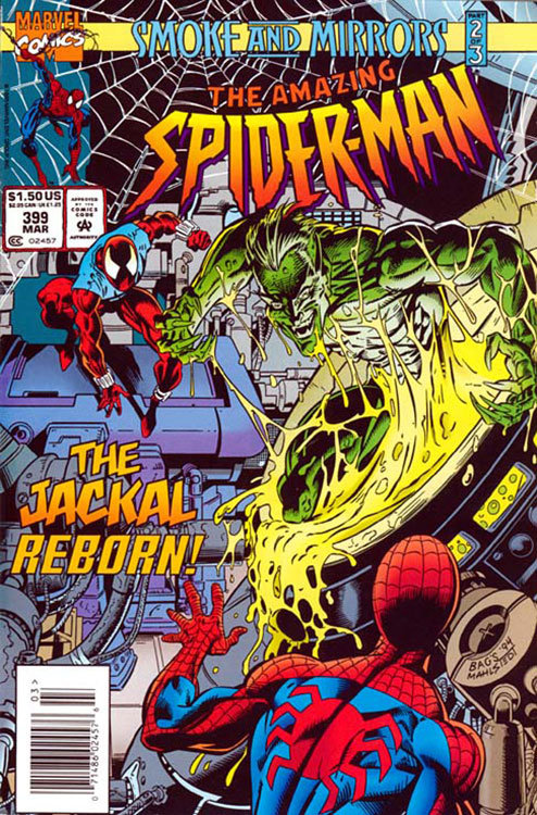 The Amazing Spider-Man # 399 marca o retorno do Chacal
