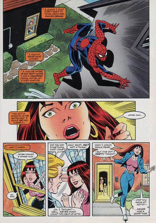 Mary Jane descobre a identidade secreto de Peter Parker em The Amazing Spider-Man # 257