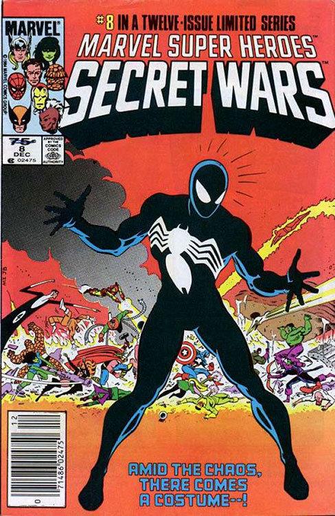 O uniforme negro surgiu em Secret Wars # 8
