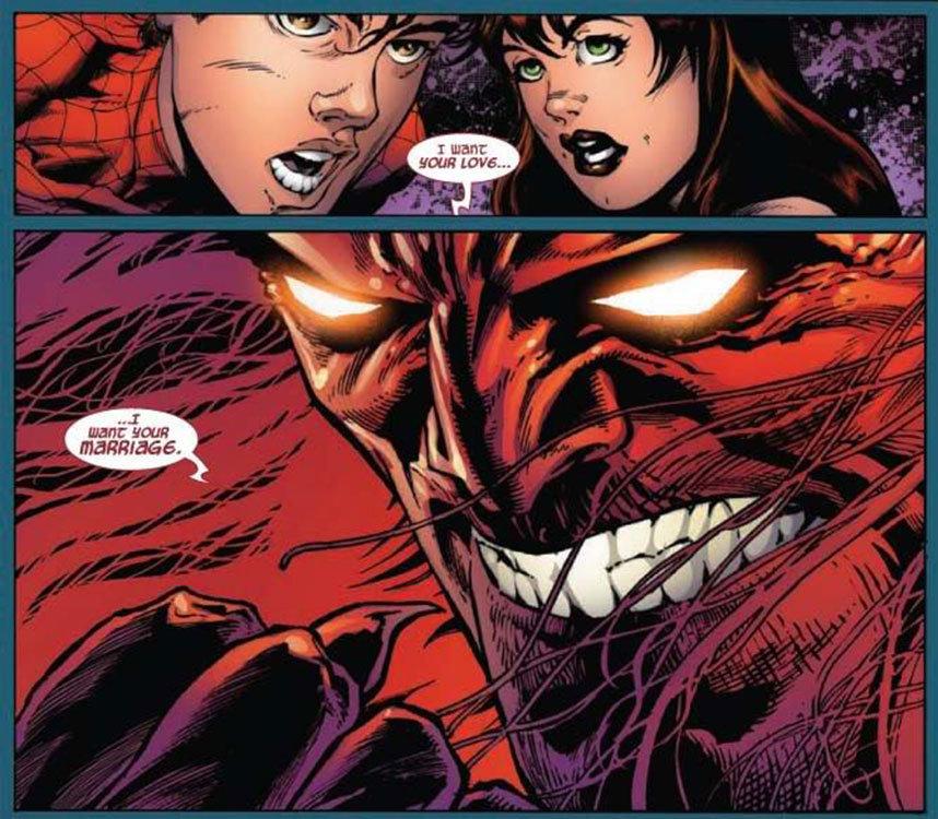 Mefisto acaba com o casamento de Peter Parker e Mary Jane