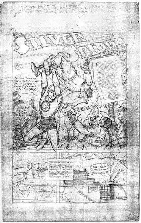 Silver Spider, roteiro de Joe Simon e Jack Oleck, e a arte é de C.C. Beck