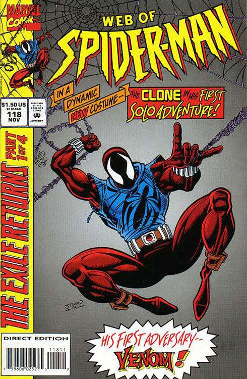 Aranha Escarlate surgiu em Web of Spider-Man # 118