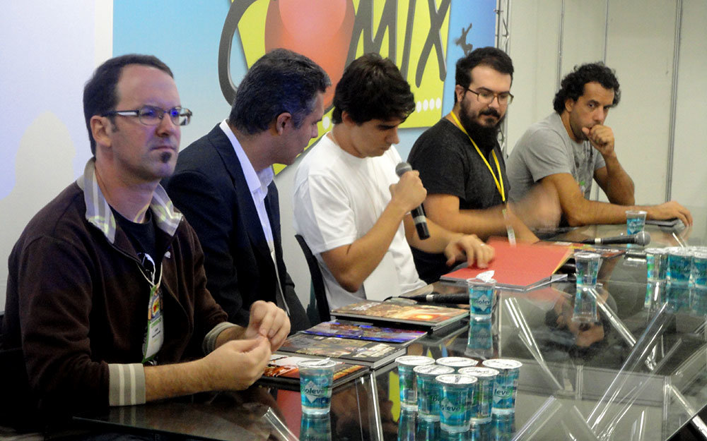 Da esquerda par aa direita: Rogério Saladino, Levi Trindade, Bernardo Santana, Daniel Lopes e Alexandre Callari