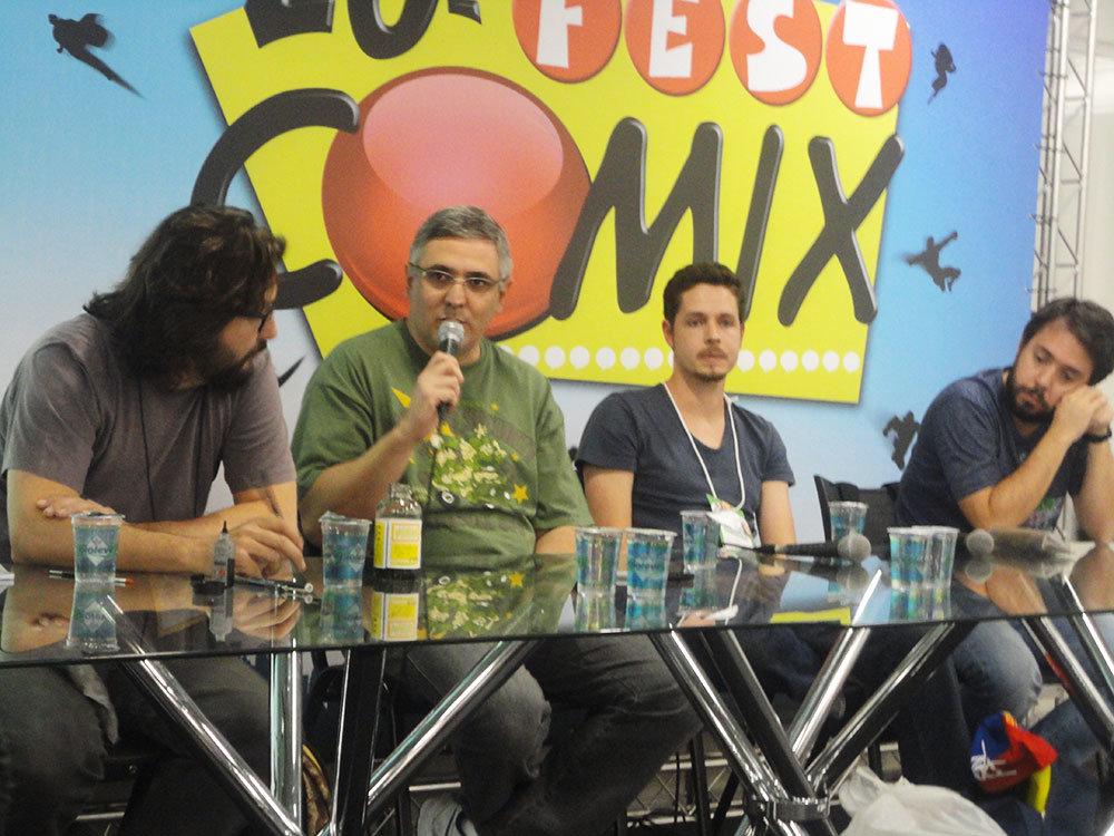 Da esquerda para a direita: Danilo Beyruth, Sidney Gusman, Vitor Cafaggi e Gustavo Duarte