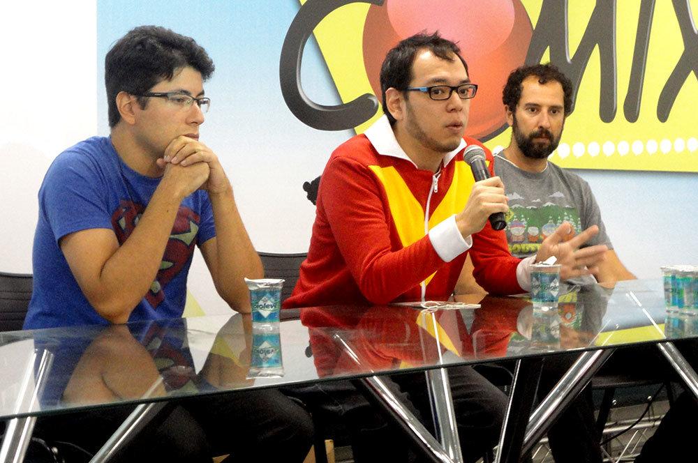 Da esquerda para a direita: Michel Borges, Fabio Yabu e Cassius Medauar
