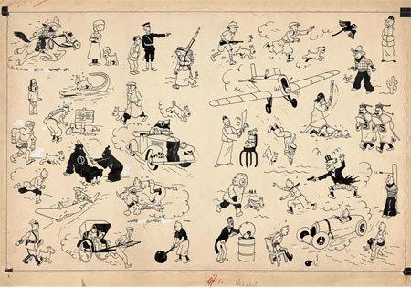Arte de Hergé vendida em leilão